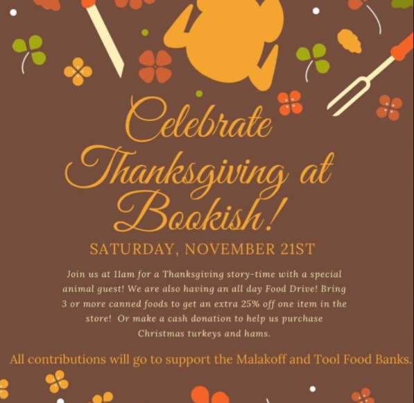 Celebrate Thanksgiving at Bookish 9 bookish thanksgiving event On The Lake Living